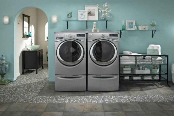 modern-laundry-room-design-plans-with-concrete-floor-ideas